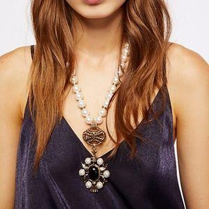 Free People Mega Pearl Pendant Necklace